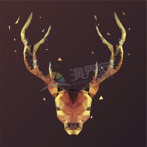 幾何圖形多邊形三角形立體色彩動物鹿