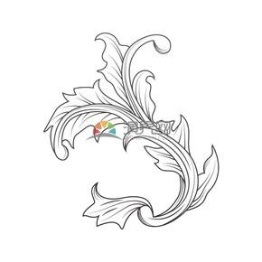 简约设计线条流畅实用植物叶子花纹装饰图案