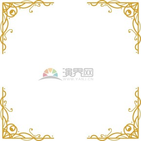 金色花纹艺术边框