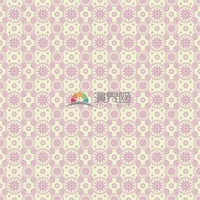 粉色花朵古典规则排列组合简约设计线条流畅实用花纹装饰图案