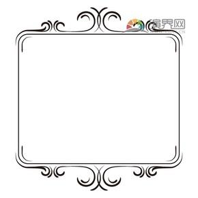 黑色矩形创意古典简约设计实用花纹装饰边框