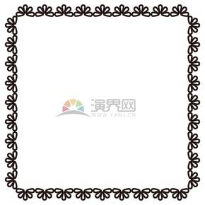 黑色花瓣簡約邊框