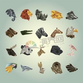 幾何圖形多邊形三角形立體色彩動物