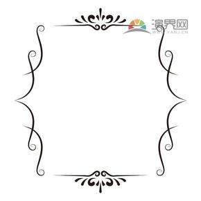 黑色创意古典简约设计实用花纹装饰边框