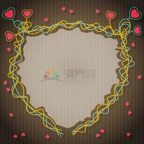 愛心連線不規則畫框鏡框展示框
