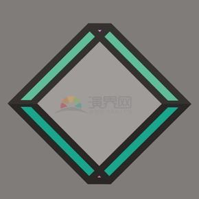 菱形边框矢量素材