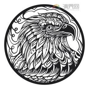 猫头鹰花纹装饰设计