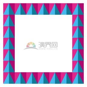 菱形長方形彩色多色畫框鏡框展示框