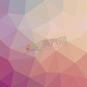 幾何圖形多邊形三角形立體色彩暖色調漸變