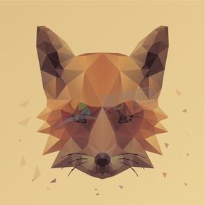 幾何圖形多邊形三角形立體色彩動物狐貍
