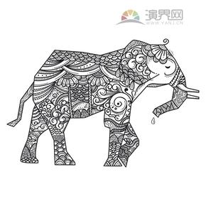 大象花纹创意装饰设计