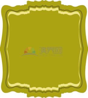 绿色底纹边框样式素材