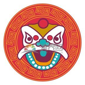 春节喜庆元素舞狮