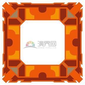 橙色黃色節日氣氛畫框鏡框展示框