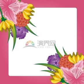 花卉邊框樣式素材