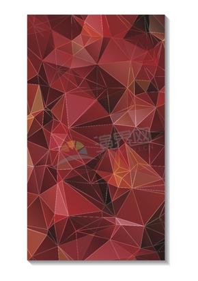 幾何圖形多邊形三角形立體色彩紅色漸變