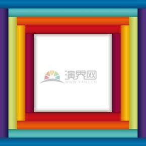 彩色柱体正方形边框底框