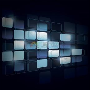 科技芯片電路板集成電路線條圓角矩形整列立體