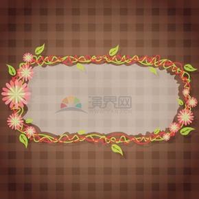 花瓣植物不規則綠植畫框鏡框展示框
