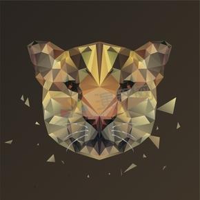 幾何圖形多邊形三角形立體色彩動物老虎