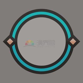 圆边框矢量素材