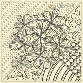 七叶草特色花纹装饰设计