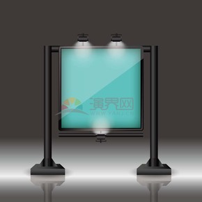 3D黑白灰彩色指示牌指示灯底框边框