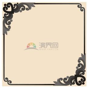 高级黑花纹边框