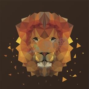 幾何圖形多邊形三角形立體色彩動物獅子