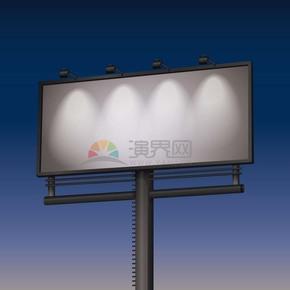3D黑白灰指示牌灯塔底框边框