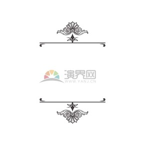 古典花纹装饰黑白边框