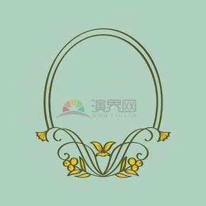 花卉花紋藝術邊框