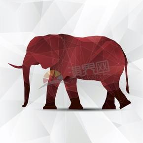 幾何圖形多邊形三角形立體色彩動物大象