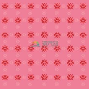 粉色花朵规则排列组合简约设计线条流畅实用花纹装饰图案