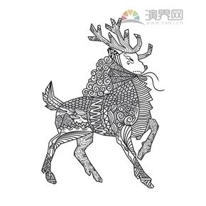 羊-创意花纹装饰设计