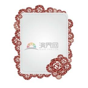 玫瑰花瓣装饰框