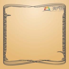 黑色创意古典简约设计线条流畅实用花纹装饰边框
