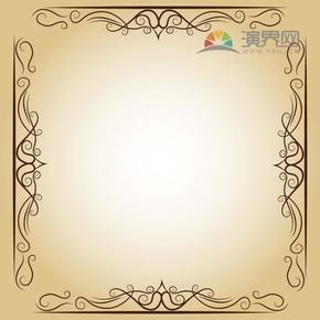 黑色方形创意古典简约设计实用花纹装饰边框