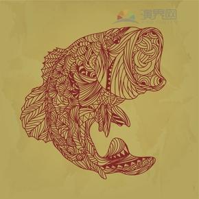 鲤鱼跳龙门花纹装饰设计