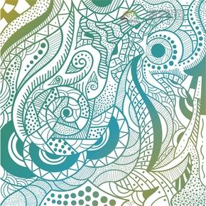 彩色地形线条花纹装饰设计