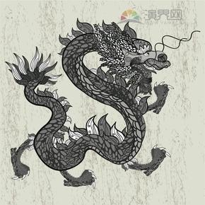 龙-花纹创意装饰设计