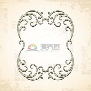 经典手绘风复古花纹边框设计