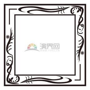 手绘风相框边框素材