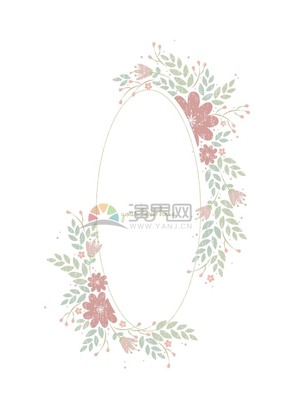 清新花卉裝飾邊框