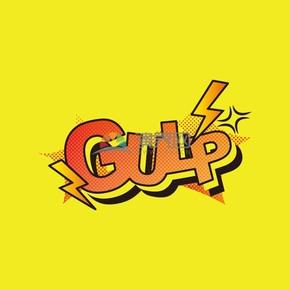 黄色背景艺术字GULP