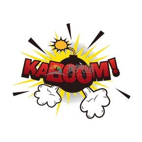炸弹背景艺术字boom