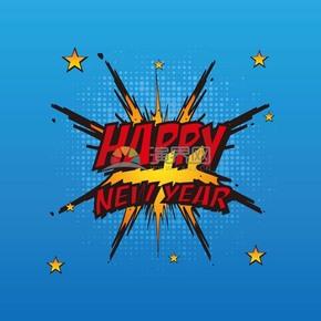 新年快乐HAPPY NEW YEAR艺术字