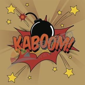 爆炸创意艺术字KABOOM!