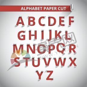 鏤空剪紙陰影立體26個字母