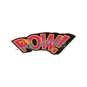波普风艺术字POW